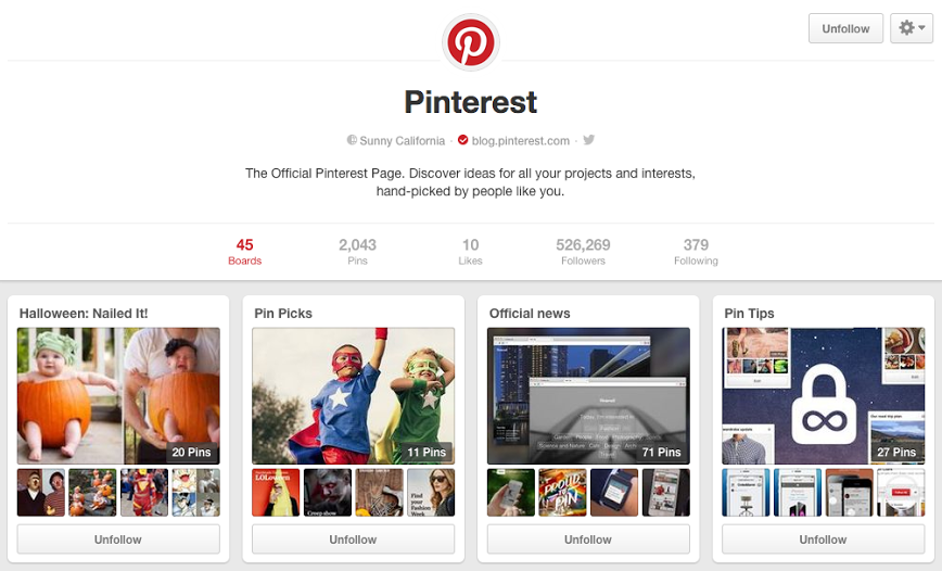 Pinterest new profile