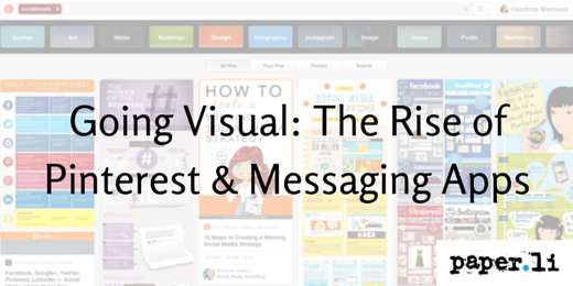 Going Visual: The Rise of Pinterest & Messaging Apps