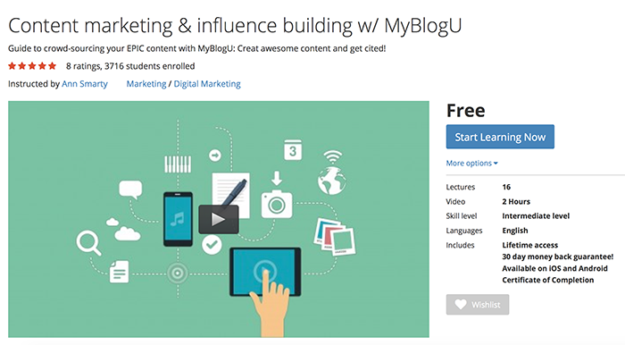 MyBlogU video course