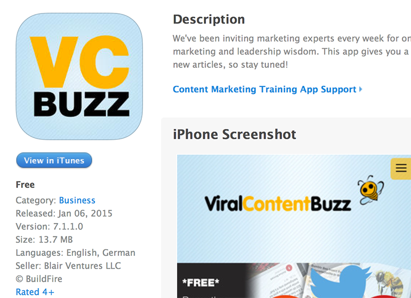 Viral Content Buzz mobile app